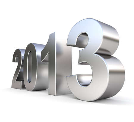 3d metal new year 2013 Stock Photo - 15664541