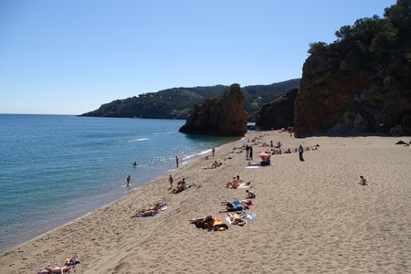 Beach view from Catalonia, Costa Brava