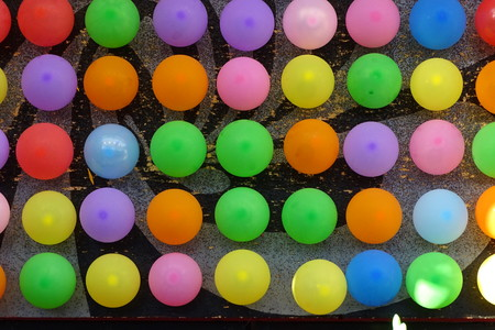 Colorful balloons as a background, party
