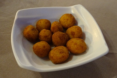 Delicious plate of croquettes in detail