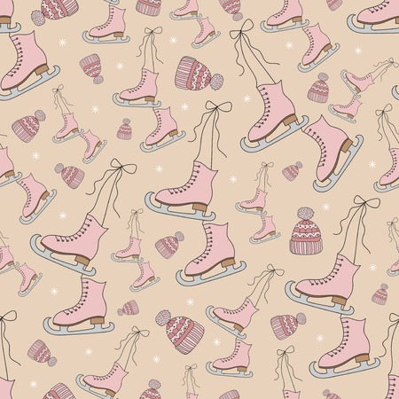 Skates Seamless pattern Vector Stock Illustratie