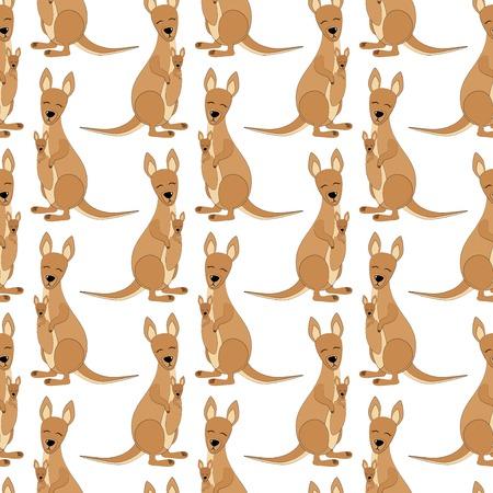 Kangaroo Seamless  Pattern.