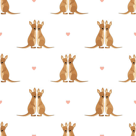 Kangaroo Seamless Vector Pattern.Vector background