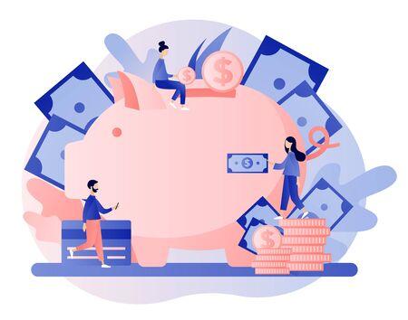 Online banking. Flat cartoon style Vector