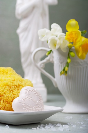 Handmade soap and natural sponges Stock Photo - 11456151