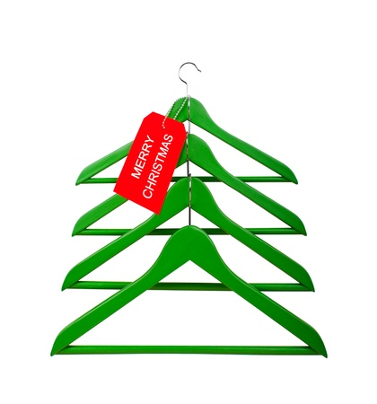 resemblance: Clothes hangers in the form of a Christmas tree  Christmas creativity