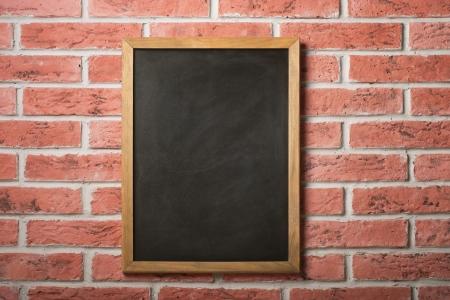 slate texture: Chalk board on a brick wall
