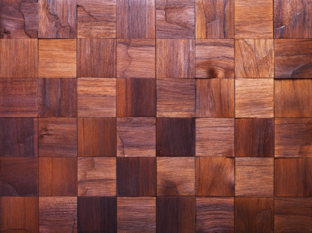 foursquare: Mosaic of wood pieces, background Stock Photo