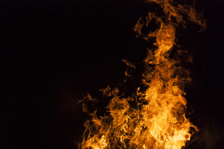 Yellow And Orange Fire Frames Isolated On A Black Background Stock ...