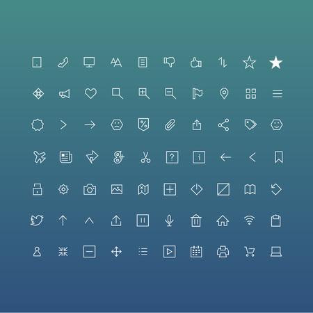 Set of icons with sharp corners Foto de archivo - 127633072