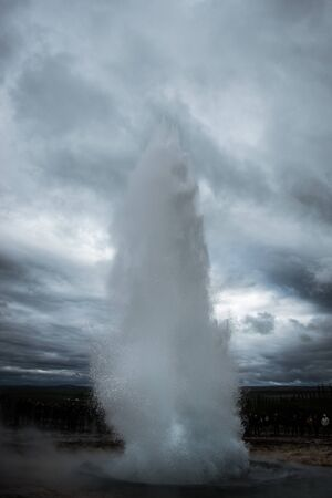 geyser on iceland blowing our steam