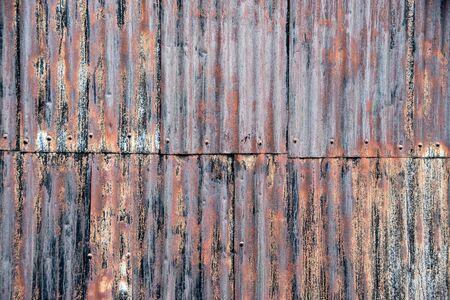 rusty metal wall