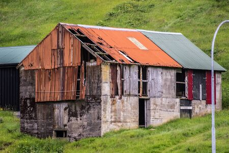 rusty shed in the faroer highlands