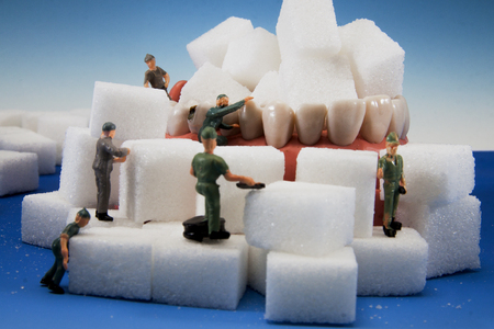 Dental treatment caries hole in the tooth