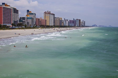 A view on myrtle beach coastline from a pier Stock Photo - 8771158