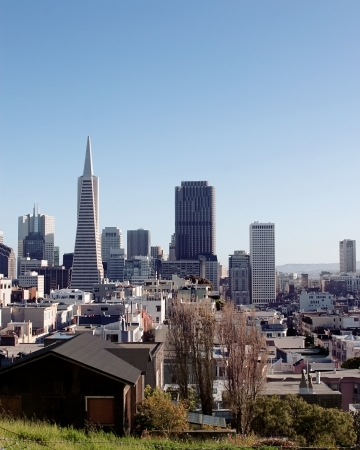 telegraph hill: View of San Francisco from telegraph hill