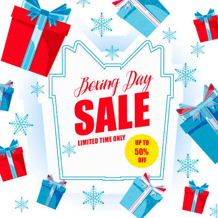Boxing Day Sale banner. Vector 10 EPS illustration.