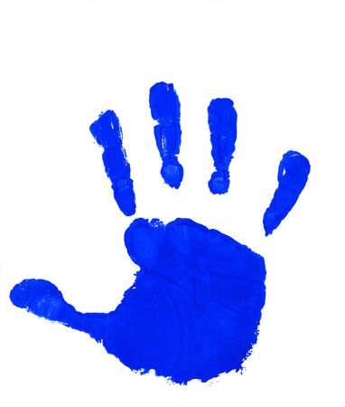 파란색 손자국