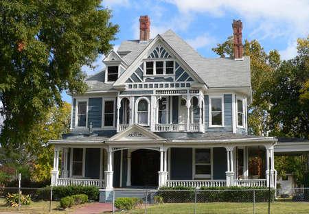 Historic Victorian Home Stock Photo