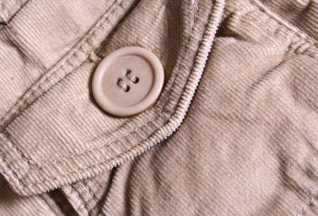 corduroy: Corduroy Pocket with Button Stock Photo