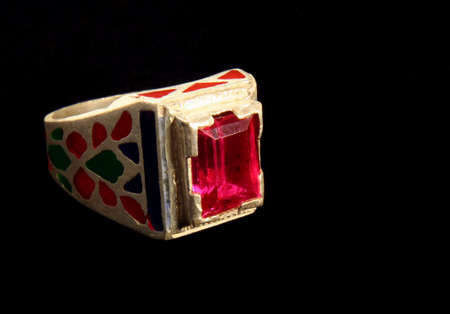 inlay: Ring From Afghanistan Stock Photo