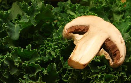 Mushroom and Kale