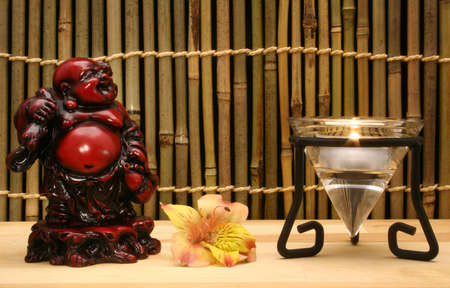 Candle and Buddah Statue