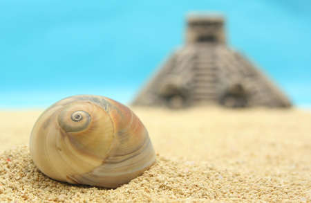 Sea Shell and Pyramid, Shallow Depth of Field