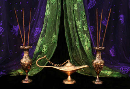 Oil Lamp and Incense From The Middle East