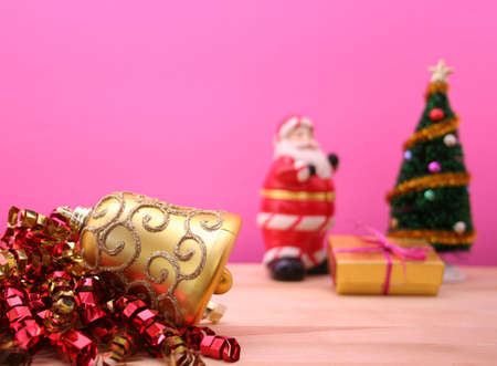 Christmas Ornament With Tree and Santa, Shallow DOF
