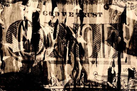 Grunge Style Background With Money Stock Photo - 2032139