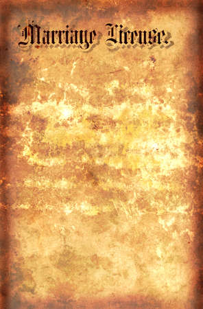 Vintage Style Parchment Paper With  License Stock Photo