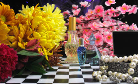 Flowers With Perfume and Jewelry