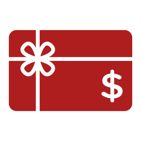 Winkelen gift card flat pictogram voor apps en websites Stock Illustratie