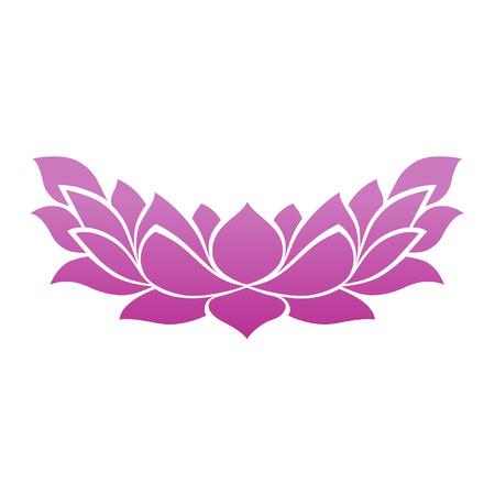 flor de loto: Lotus icono de la flor del tatuaje para spa yoga zen y la meditaci�n Vectores