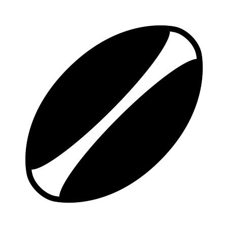 pelota rugby: Iconos planos pelota de rugby para aplicaciones deportivas y sitios web Vectores