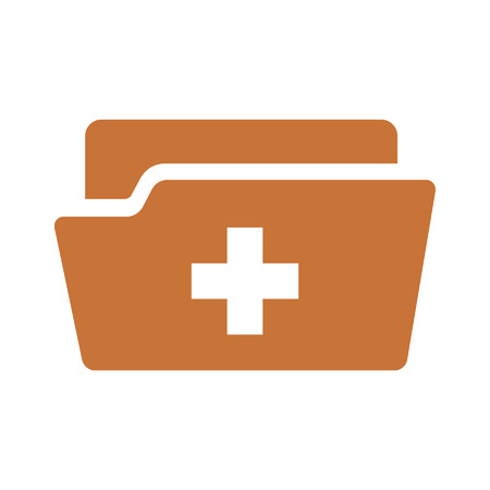 patient chart: Medical health record folder flat icon for healthcare
