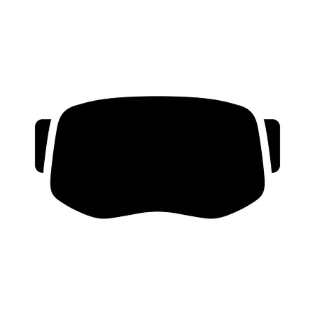 VIRTUAL REALITY: Virtual reality gaming and entertainment headset icon Illustration