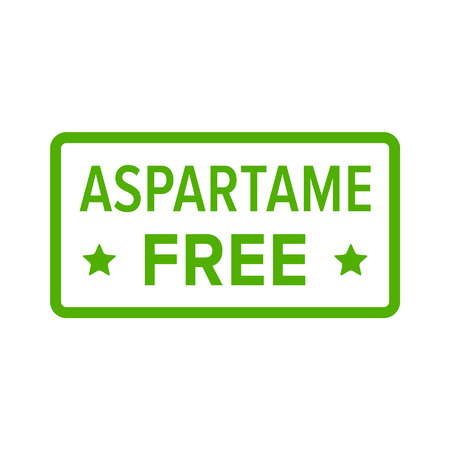 softdrink: Aspartame artificial sweetener free stamp, label, sign flat icon