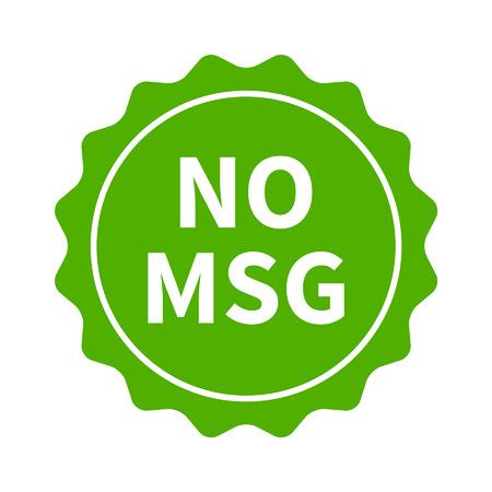 glutamate: No MSG  MSG free restaurant food badge or sticker flat icon
