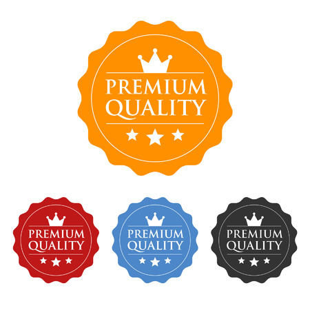quality seal: Premium quality seal or label flat icon Illustration