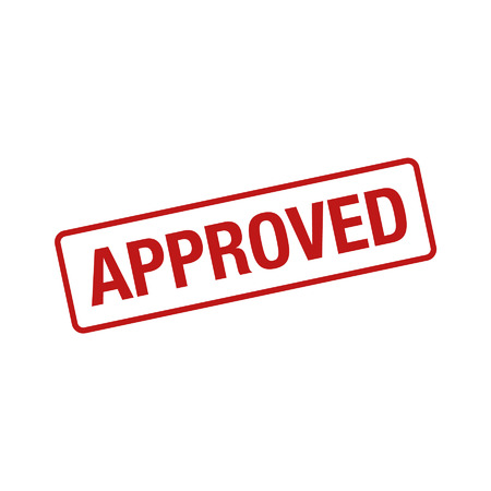 loan: Approved rubber stamp seal flat icon