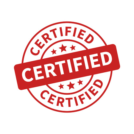 Certified stamp, label, sticker or stick flat icon Çizim