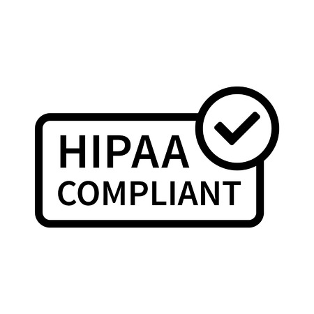 government: Health Insurance Portability and Accountability Act - HIPAA badge line art icon for apps and websites