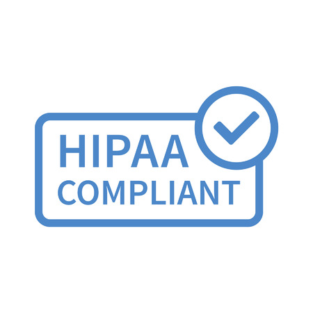 portability: Health Insurance Portability and Accountability Act - HIPAA badge line art icon for apps and websites