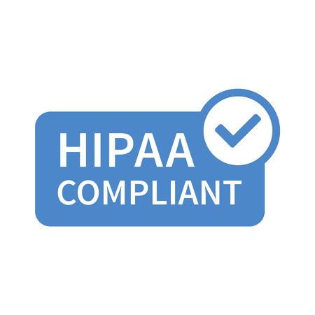 건강 보험 양도 및 책임에 관한 법률 - 앱과 웹 사이트에 대한 HIPAA 배지 라인 아트 아이콘