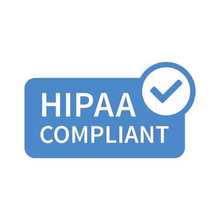 Health Insurance Portability and Accountability Act - HIPAA badge line art icon for apps and websites