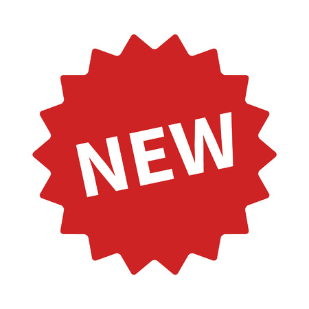 New feature or product badge flat icon for apps and websites