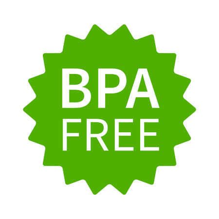 non toxic: BPA bisphenol A and phthalates free flat badge icon for non toxic plastic Illustration