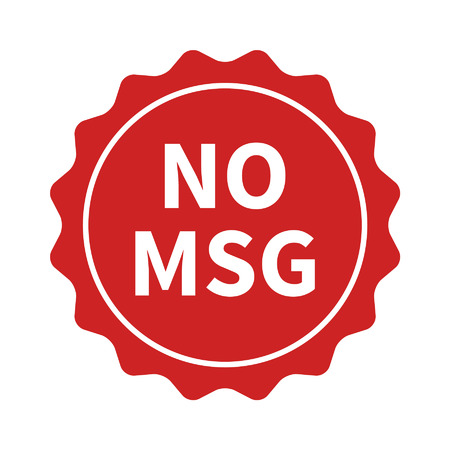 glutamate: No MSG  MSG free restaurant food badge or sticker flat icon